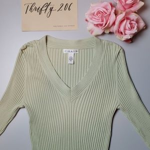 [Chaus] Vintage Ribbed Long Sleeved Sweater